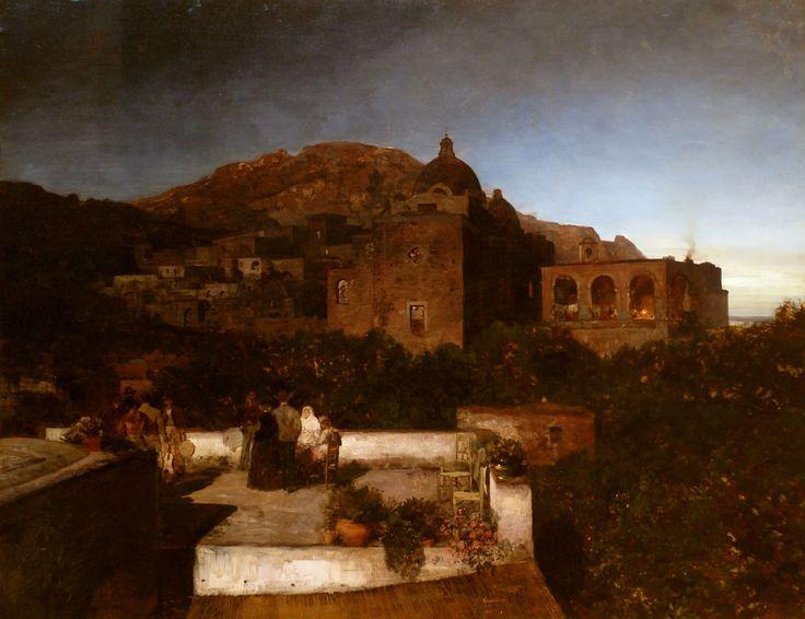 Landesmuseum Mainz, Mondnacht auf Capri von Oswald Achenbach, 1886 (Moonlit night at Capri)