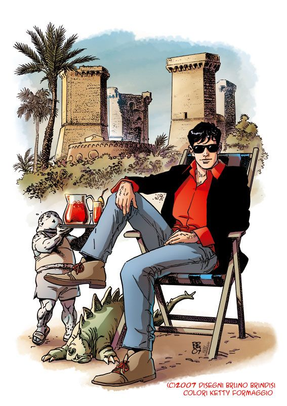 Dylan Dog  art Bruno Brindisi color Ketty Formaggio