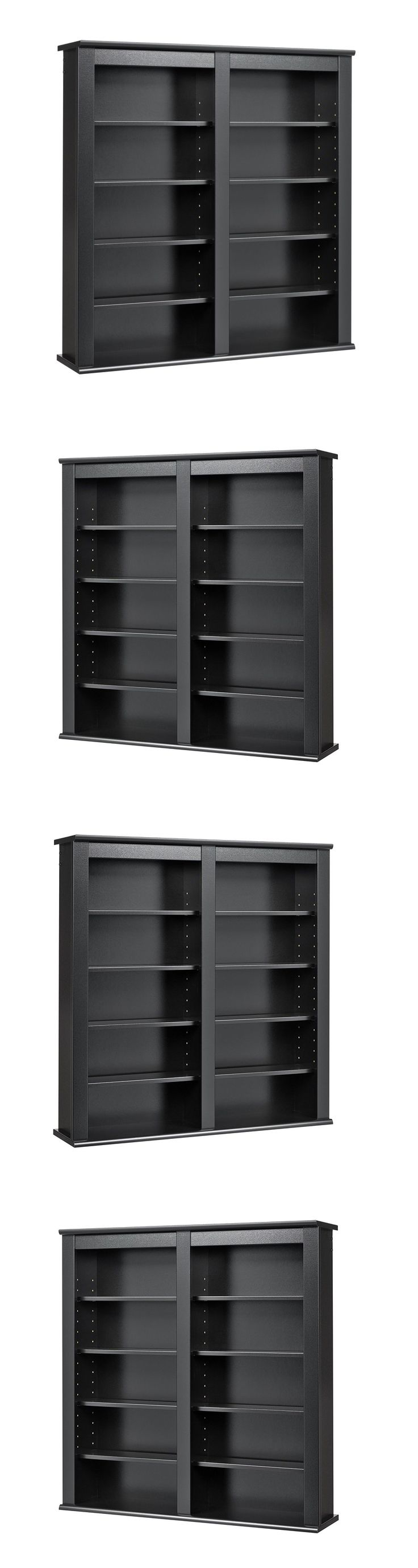 CD and Video Racks 22653: Media Cabinet Wall Mount Cd Dvd Storage Shelves Entertainment Unit Black New -> BUY IT NOW ONLY: $108.82 on eBay!