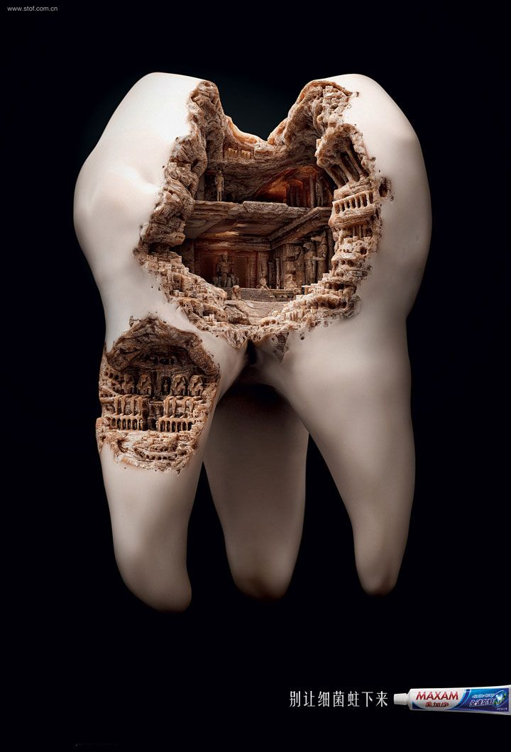 Une splendide affiche pour une marque de dentifrice