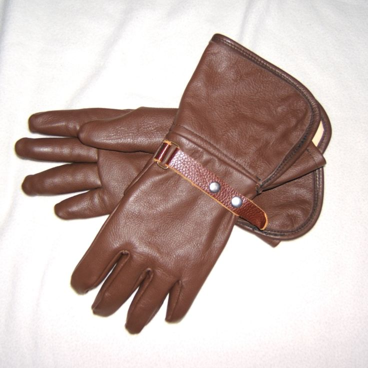 Gauntlet Gloves, Full Grain Oil Tanned Cowhide free with Jacket and chaps package purchase