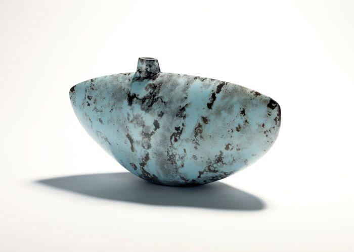 Alison Kay - Large Blue Dappled Vessel www.sofinearteditions.com/alison-kay