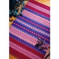 Create a richly colored boundweave rug on rosepath treading.   InterweaveStore.com