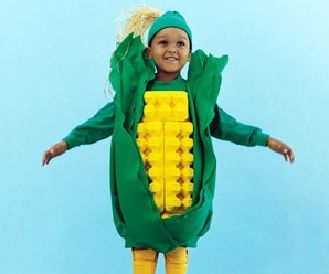 Corn on the cob costume - looks like it was hard but instructions make it sound so easy!