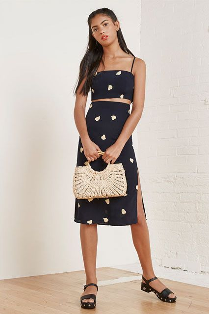 12 Outfits That Prove The Matching Set Is All Grown-Up #refinery29  http://www.refinery29.com/two-piece-dresses#slide-6  A slimmed down silhouette of the classic two-piece style.Reformation Ace Two Piece, $218, available at Reformation. ...