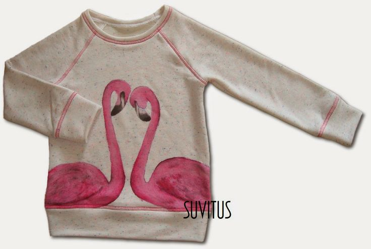Unique hand painted flamingo shirt to my daughter. Made by Suvitus.  It's so cute !