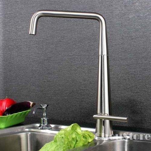 Luxury-Brushed-Nickel-Kitchen-Sink-Faucet-Swivel-Spout-Mixer-Tap-A85