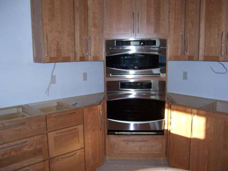 32 best images about kitchen ideas corner double ovens and for Double kitchen cupboard