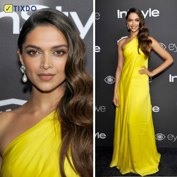 #GoldenGlobes after-party's sunshine was none other than Deepika Padukone!   How much did you love her look?  #Golden Globe Awards #Deepika Padukone #Fan Club