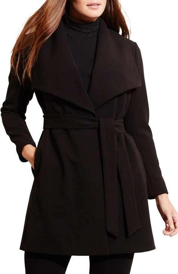 b0870c2fd67e9 Lauren Ralph Lauren Wrap Coat - Plus Size