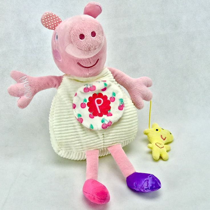 Pepper Pig activity toy Teddy Multi Texture Mirror Behind Tummy plays song talks