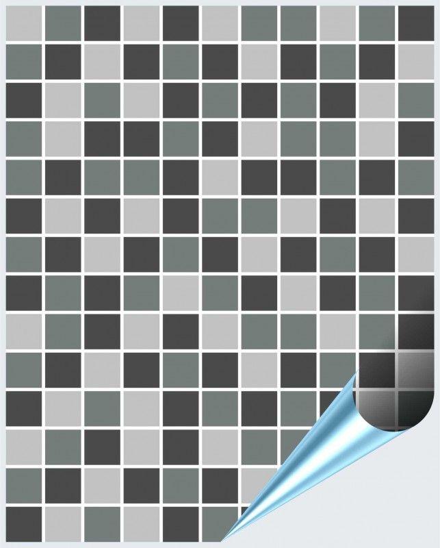 Fliesenaufkleber Mosaik grau 20cm x 25cm 001