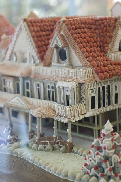 Gingerbread houseVictorian Farmhouse, Winchester House, Gingerbreadhouse, Beautiful Gingerbread, Christmas, Gingerbread Details, Gingerbread Mansions, Gingerbread Houses, House Gingerbread