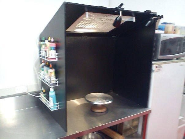 how to make your own airbrush booth