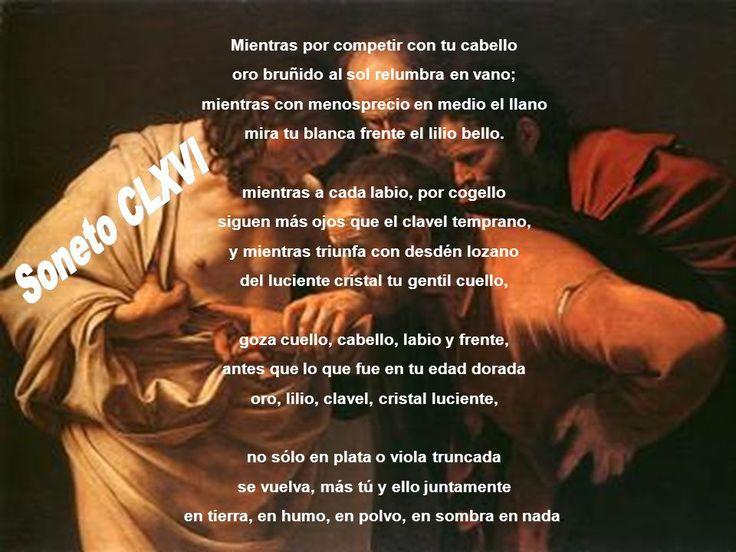 Soneto CLXVI de Luis de Gongora. La explicacion de como esta estructurado el poema.