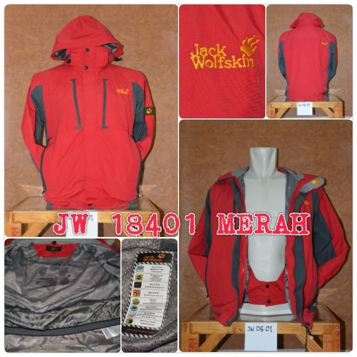 Jaket JW 18041 Merah - OUTDOOR GEAR