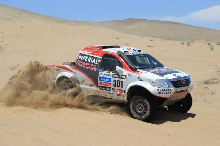 Giniel De Villiers and Dirk von Zitzewitz finish 2nd in the Dakar 2013