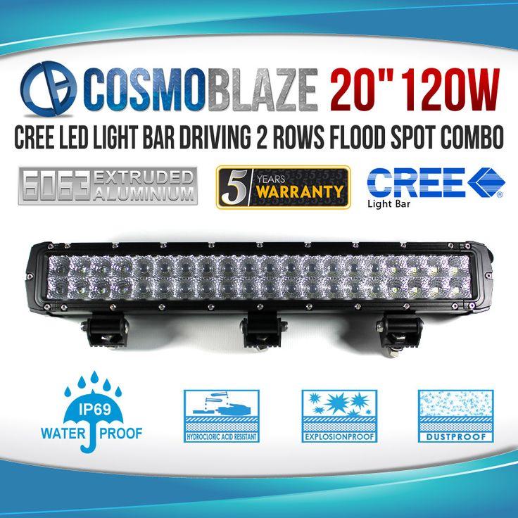 Cosmoblaze: Heavy-Duty 120W Double Row Series CREE LED Light Bars