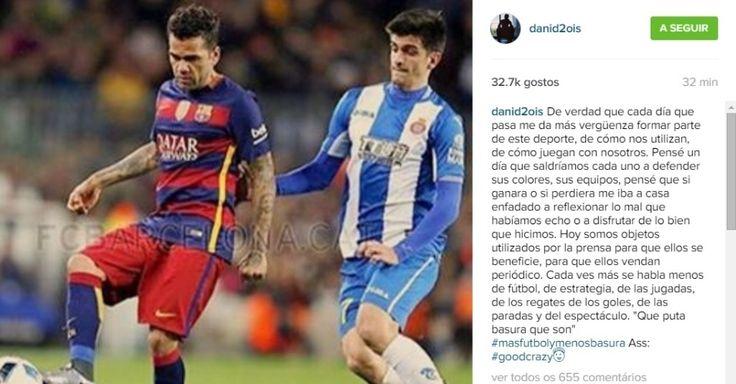 Dani Alves critica mídia com direito a palavrão; Barça repreende jogador