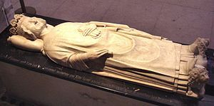 The tomb of Leon V, the last Armenian king, at the Basilica of St Denis