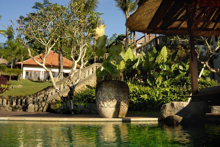 Villa Bayad Ubud Bali main house from the pool