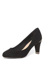 Womens Black 'Emma' Metal Court Shoes- Black