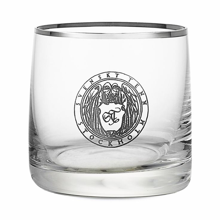 Dricksglas Silverkant Emblem