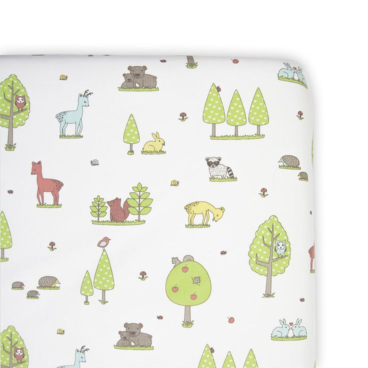Bassinet Fitted Sheet - Forest Friend
