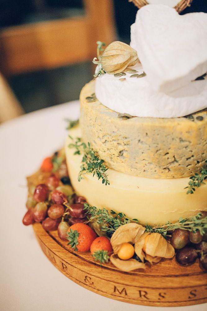 Cheese wedding cake | English country wedding | Upwaltham Barn | Story & Colour Photography | London
