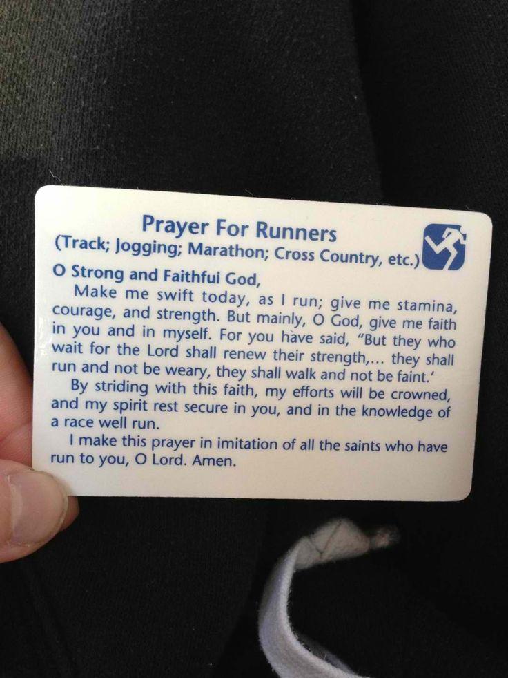 Prayer for runners