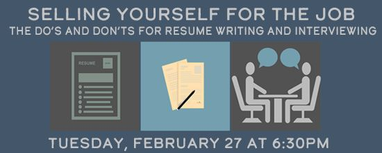 Are you in the middle of a career change or looking for a job? Do you need help building your resume? How should you sell yourself in an interview? Come learn these things and more from the experts of the Worksmart Network.  Join us to learn more on Tuesday, February 27, from 6:30 to 7:30pm