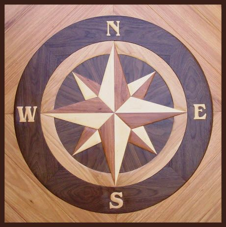 17 best ideas about compass rose on pinterest compass for Inlaid wood floor designs