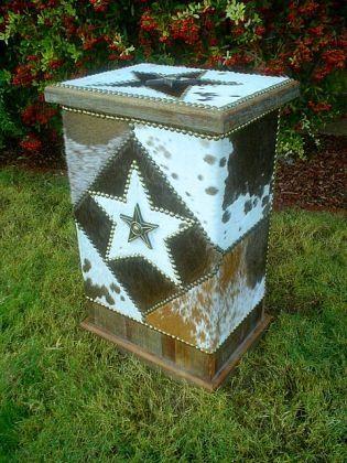 COWBOY KITCHEN TRASH RECEPTACLE OR CLOTHES HAMPER | Western Decor by Signature Cowboy