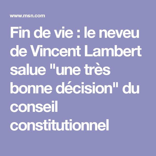 """Fin de vie : le neveu de Vincent Lambert salue """"une très bonne décision"""" du conseil constitutionnel"""