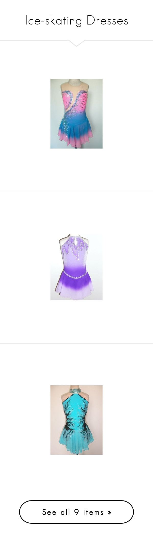 """Ice-skating Dresses"" by frozen1-1 ❤ liked on Polyvore featuring dresses, ice skating, lullabies, sports dress, sport dress, metallic dresses, purple dresses, metallic cocktail dress, purple cocktail dresses and figure skating"