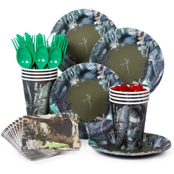 Check out Next Camo Party Standard Tableware Kit Serves 8- BirthdayInaBox.com…