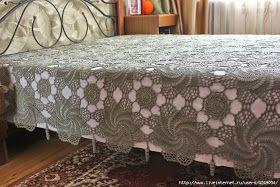 Cubrecama con patrones para tejer al crochet