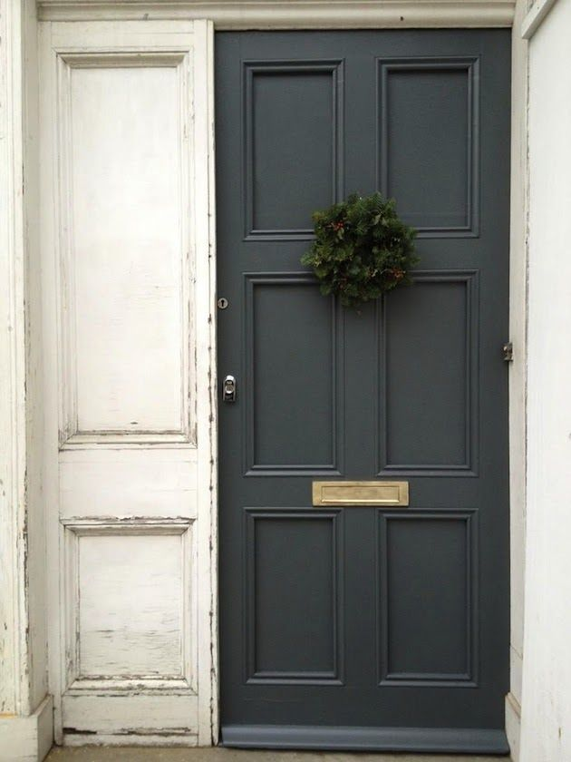 "smokey color of that door (""Down Pipe"" by Farrow & Ball)"