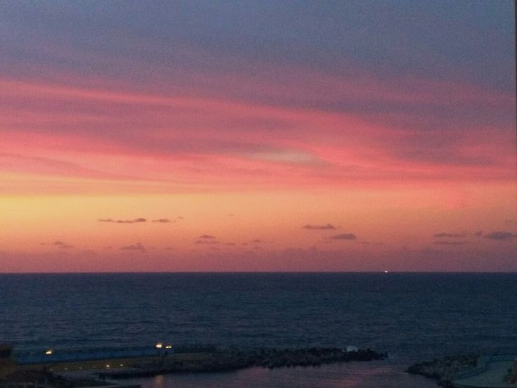 Sunset at Tolip Hotel in Alexandria, Egypt