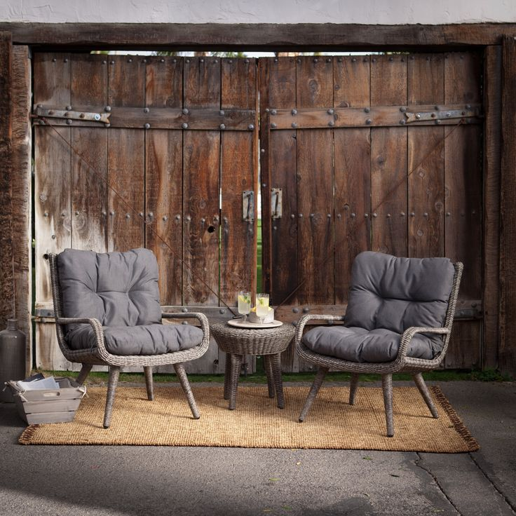Have To Have It. Belham Living Rio All Weather Wicker Chat Set   $629.98 @.  Outdoor Lounge FurnitureOutdoor ...