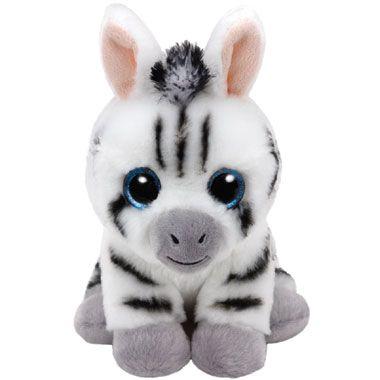 Ty Beanie Boo Classic knuffel Zebra Stripes - 33 cm  Ty Beanie Boo Zebra Stripes is een 33 cm. grote knuffel in zebra-uitvoering. Met zijn kleine oortjes en prachtige kraaloogjes is het een heerlijk pluchedier om te knuffelen.  EUR 16.99  Meer informatie