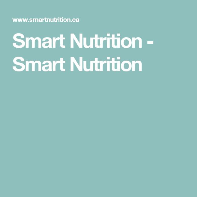 Smart Nutrition - Smart Nutrition