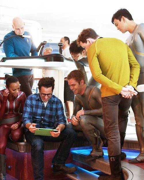 "J.J. Abrams on the set of ""Star Trek"" (2009)"