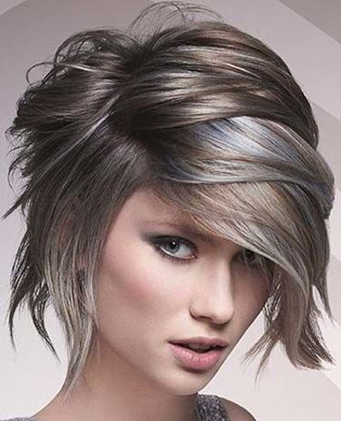 Wet Look Short Layered Hairstyles 2017 For Women