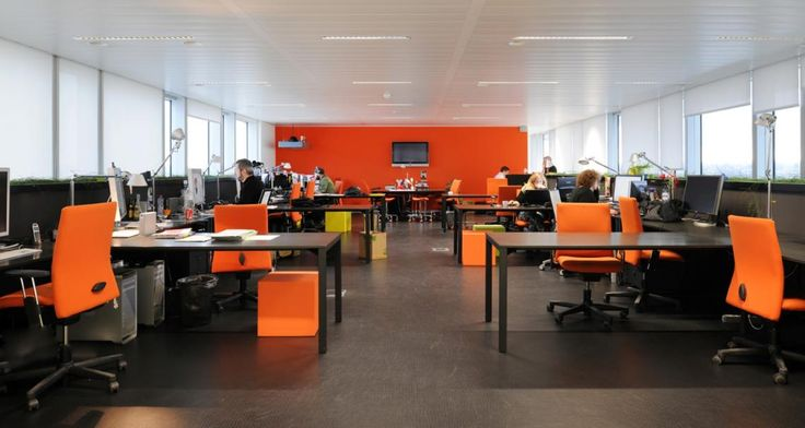 Open space into the premises of JWT in Brussel, Belgium