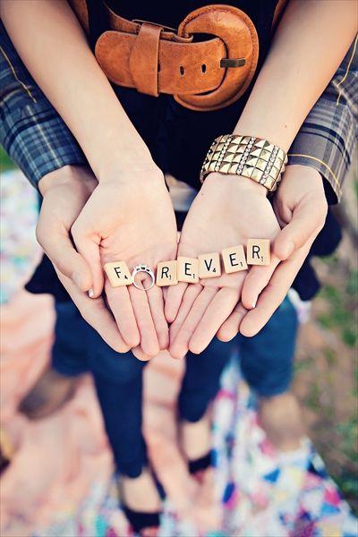 such a cute engagement photo idea!