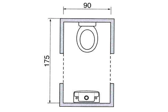 Le plan d 39 un wc avec lave mains dimensions guide - Plan de toilettes seches ...