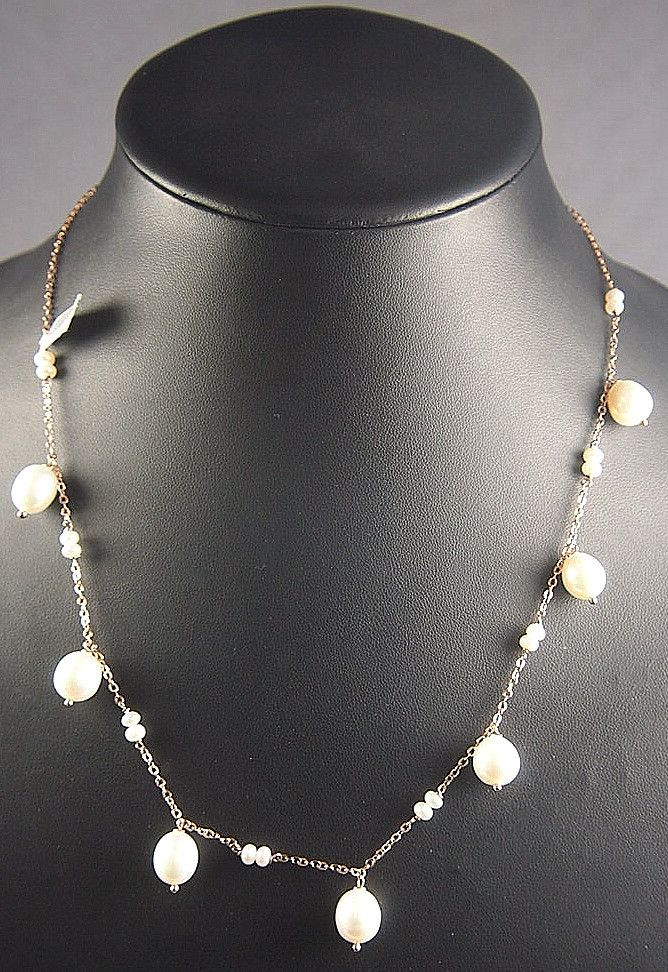 Fine fresh water pearl drop short necklace by Simply Italian. Made of 18 carat rose gold fine plate on silver base chain Simply Italian jewellery has been indiv