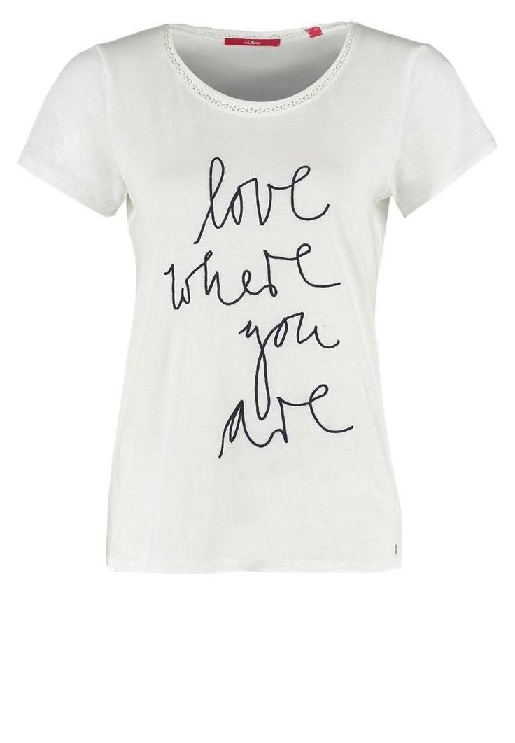 s.Oliver Tshirt z napisem Love where you are creme