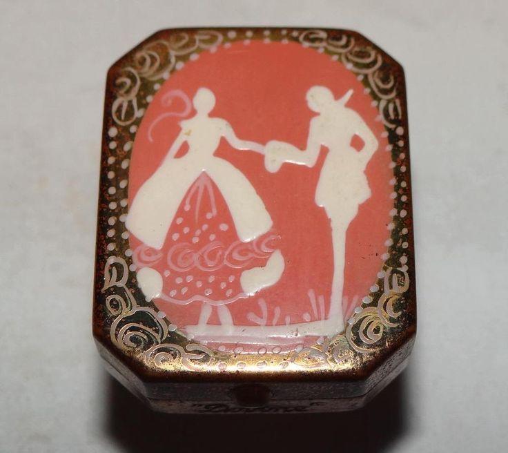 "1920s Art Deco ""Divine"" Ladies Enamel Silhouette Miniature Glove Powder Compact | eBay"